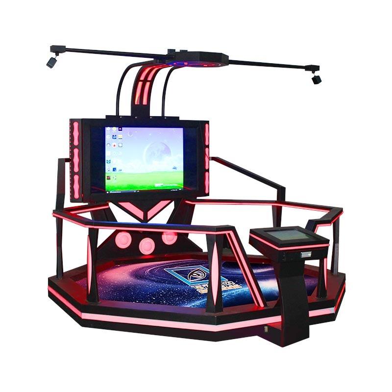 VR space walking platform simulator virtual reality game machine