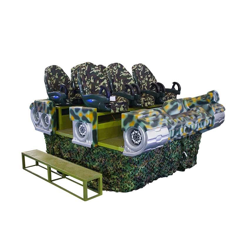 6 players arcade machine 9d vr tank simulator XTK-06