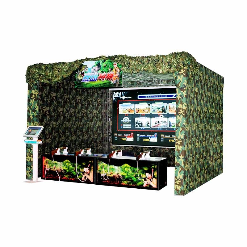Four players infared shooting games machine XSL-08