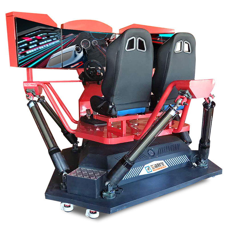 6 axis motion platform 3 screens car simulator