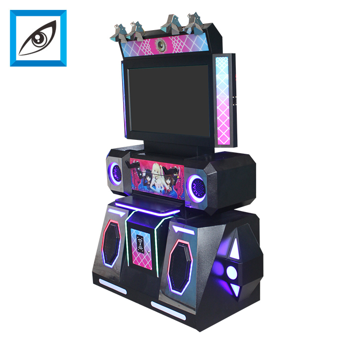 Electronic VR dancing music arcade simulator game machine