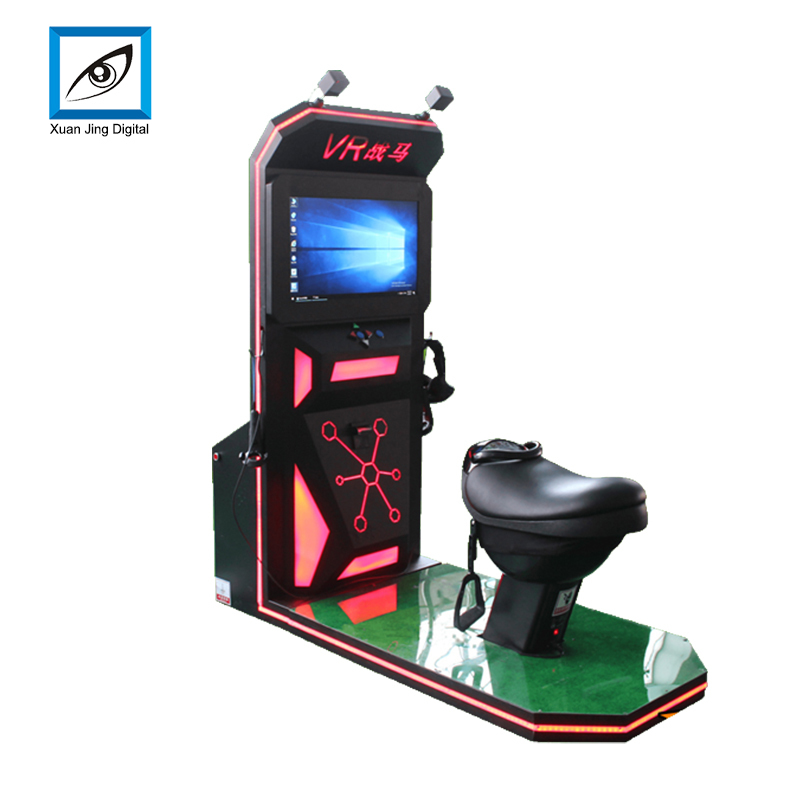 leather motion seats VR horse riding simulator games machine XJS-06