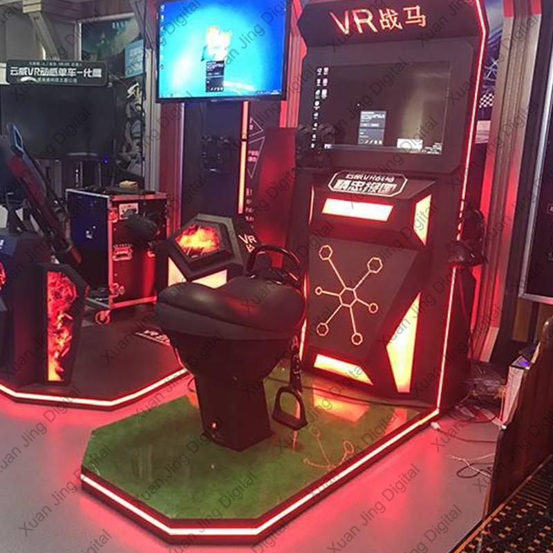 leather motion seats VR horse riding simulator games machine XJS-06
